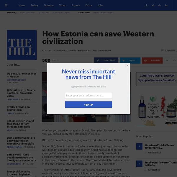 How Estonia can save Western civilization