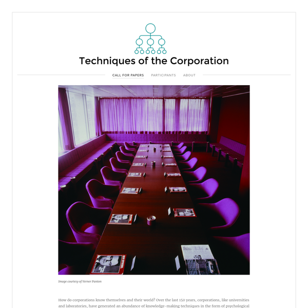 How do corporations know themselves and their world? Over the last 150 years, corporations, like universities and laboratories, have generated an abundance of knowledge-making techniques in the form of psychological test, efficiency technologies, scenario planning, and logistical systems.