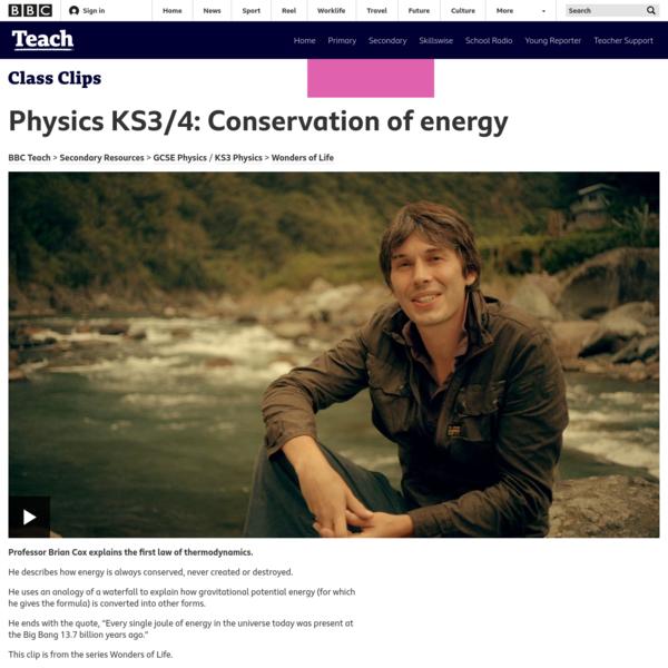 Physics KS3/4: Conservation of energy