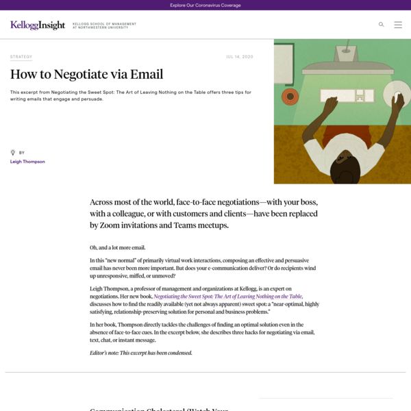 How to Negotiate via Email