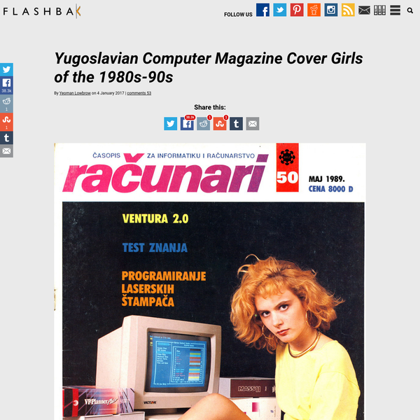Yugoslavian Computer Magazine Cover Girls of the 1980s-90s |