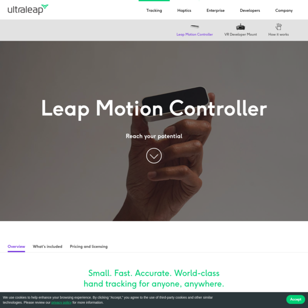 Tracking | Leap Motion Controller | Ultraleap
