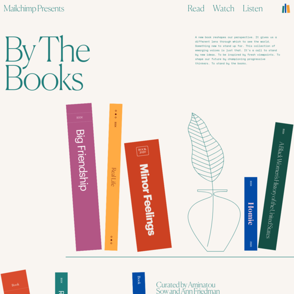Mailchimp Presents: By The Books | A Collection of Rising Voices