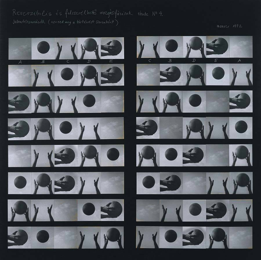 Reversible and changeable phases of movement etude, 1973<br>https://donnaperformer.wordpress.com/category/dora-maurer/#jp-carousel-668