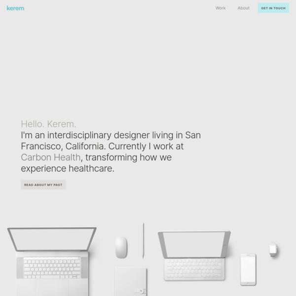 Kerem Suer, Interdisciplinary Designer