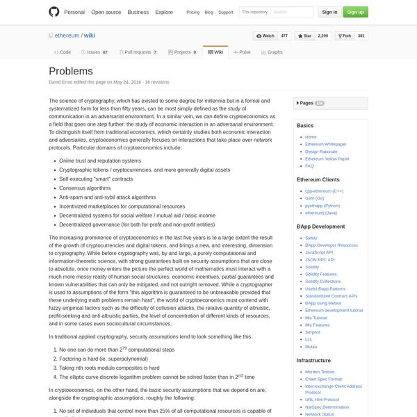 wiki - The Ethereum Wiki -