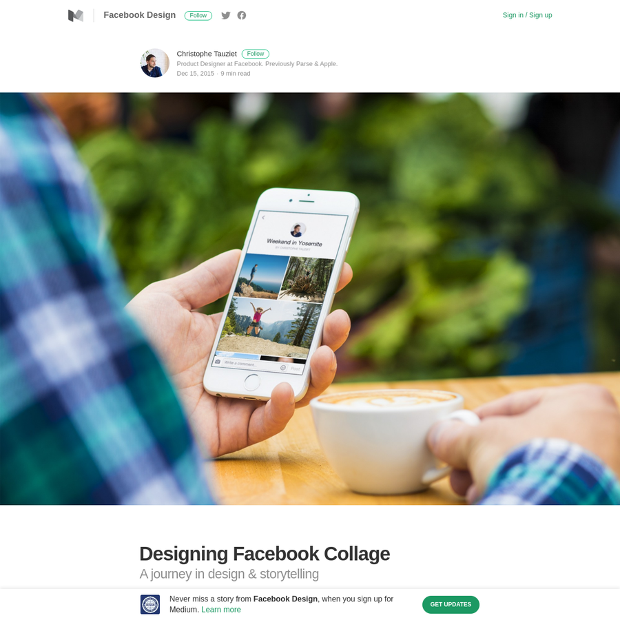 A little more than a year ago I joined the Facebook Photos team with the goal of exploring what could be the future of storytelling on Facebook. We felt like it was time for us to modernize our platform and better help people share their stories.