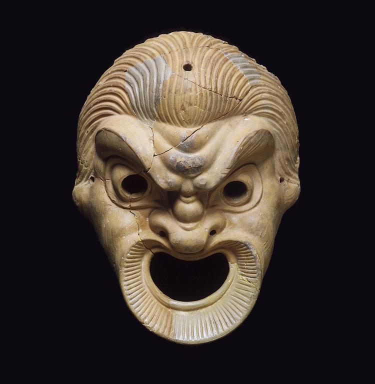 Terra cotta mask, 250 BC