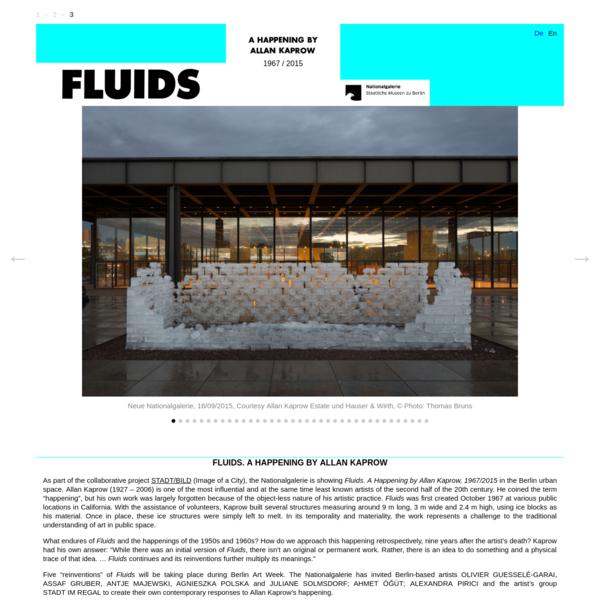 Fluids. A Happening by Allan Kaprow. 1967/2015 - Nationalgalerie, Staatliche Museen zu Berlin