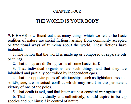 excerpt from The Book, Alan Watts