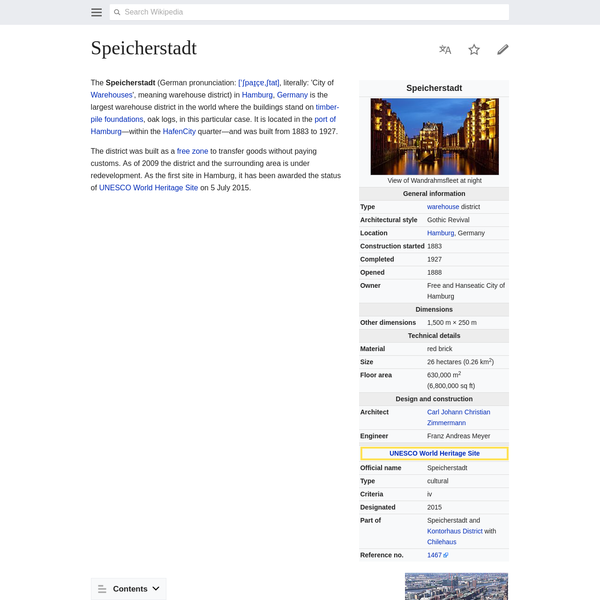 Speicherstadt - Wikipedia