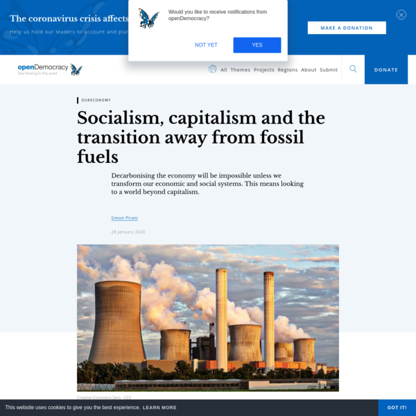 Socialism, capitalism and the transition away from fossil fuels
