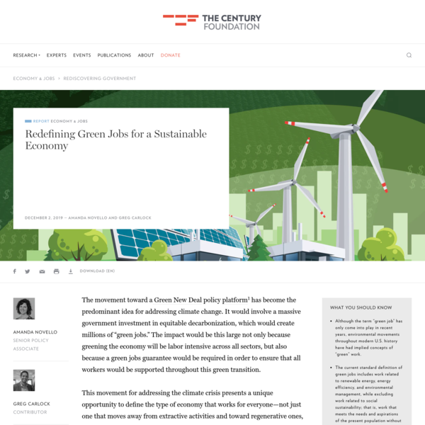 Redefining Green Jobs for a Sustainable Economy