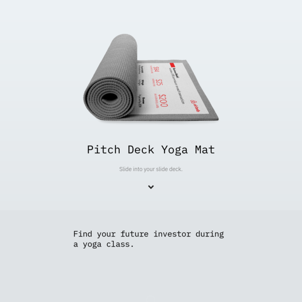 Pitch Deck Yoga Mat - Founder Fitness Club