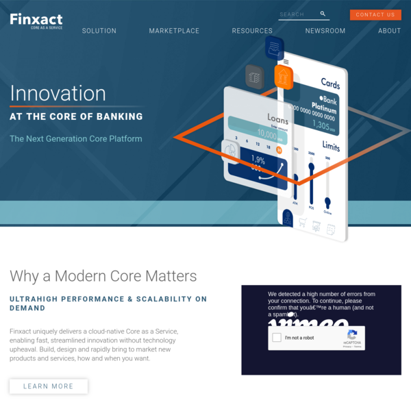 Finxact | Core Banking Software | Cloud Banking | Core as a Service