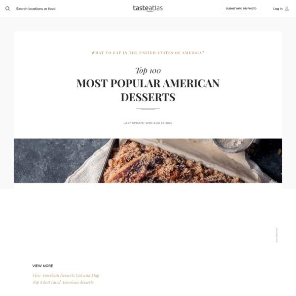 100 Most Popular American Desserts