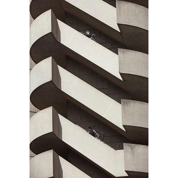 Atlanta, GA: staircase by John Portman. #concrete #americasmart #JohnPortman #brutalism #LevisCommuter