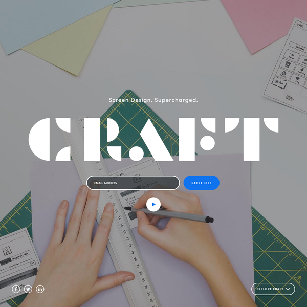 Download Craft, a free suite of tools for Sketch and Photoshop that let you design with real data in mind.