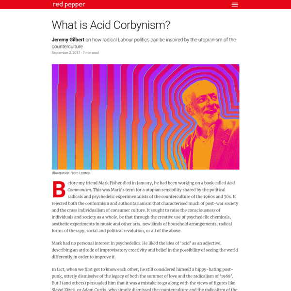 What is Acid Corbynism?