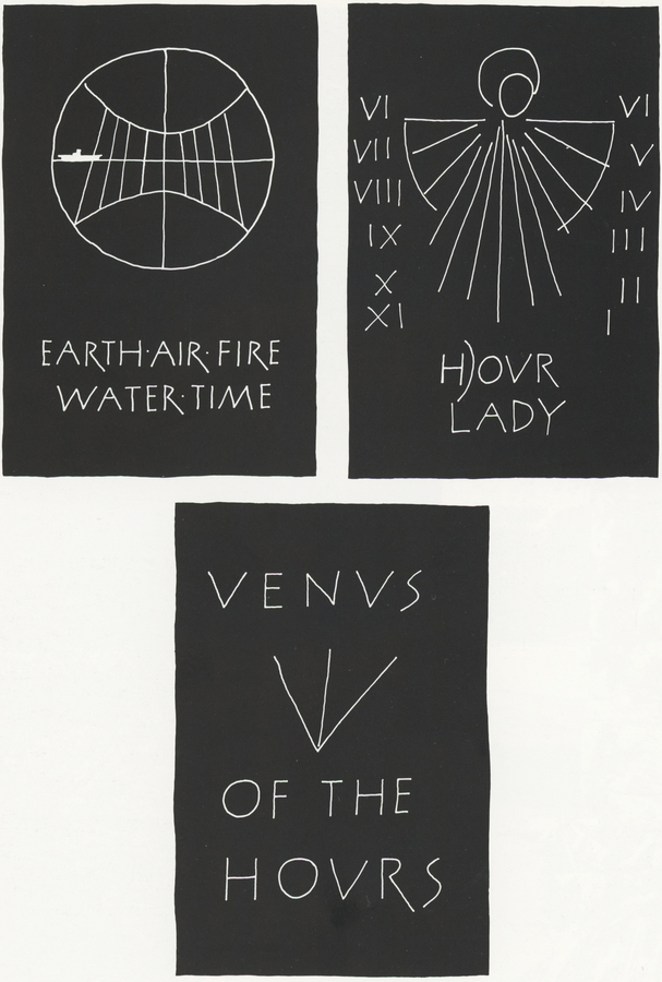 From _Airs, Waters, Graces_ (with Ron Costley), 1975.   Abrioux, Yves, _Ian Hamilton Finlay: A visual primer_ (London: Reaktion Books, 1985) p. 238.