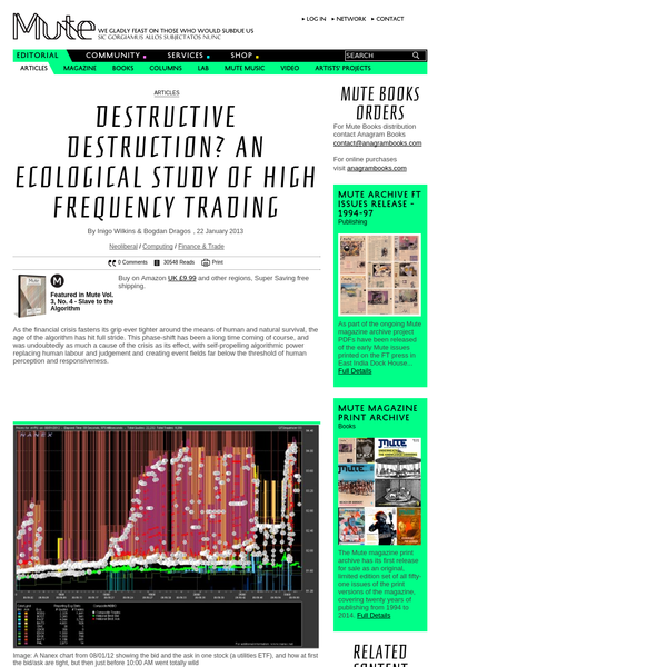 How is High Frequency Trading's drive to efficiency affecting market dynamics as a whole? In their analysis of the financial arms race, Inigo Wilkins and Bogdan Dragos find that far from beating entropy, algorithmic trading simply redistributes it more u