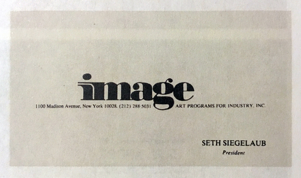 Seth Siegelaub business card