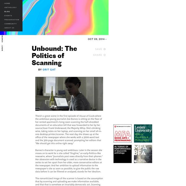 Unbound: The Politics of Scanning