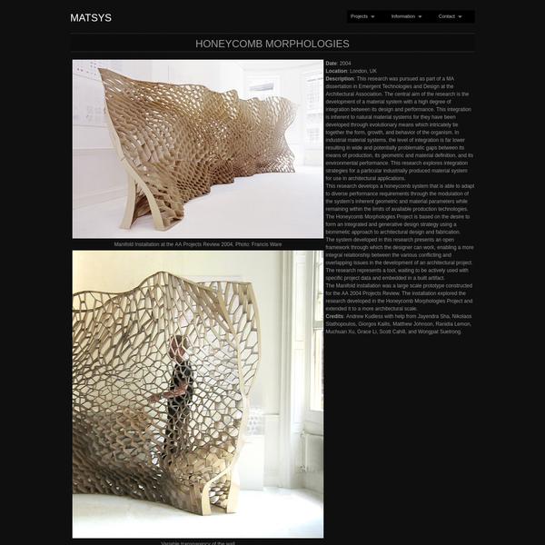 "Honeycomb Morphologies "" MATSYS"