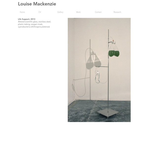 Louise Mackenzie is a UK based visual artist creating bio art, new media art, sculpture, installation and sound art.