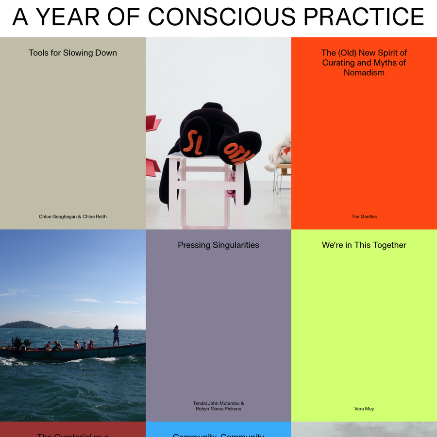 A Year of Conscious Practice is a new online publication in association with the 2015/16 Emerging Curators Programme.