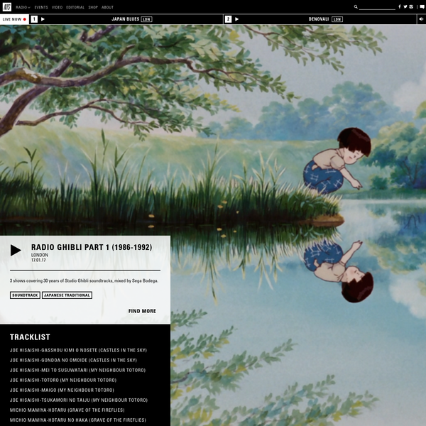 Radio Ghibli Part 1 (1986-1992) 17.01.17