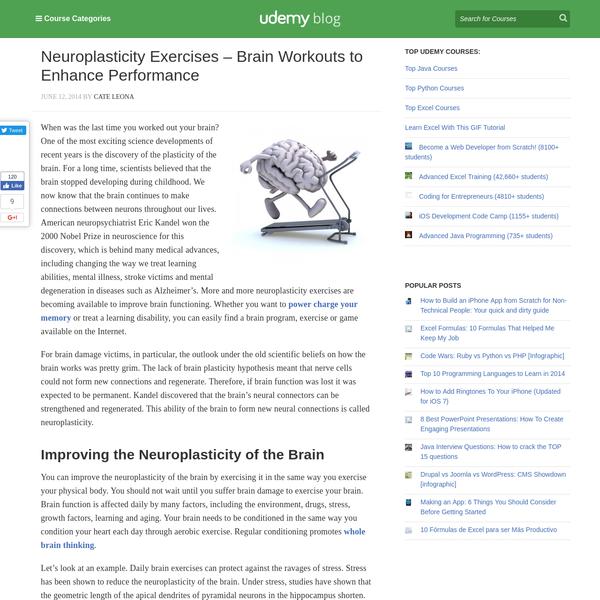 Neuroplasticity Exercises - Brain Workouts to Enhance Performance