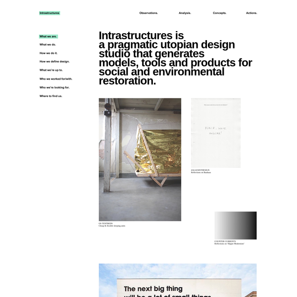 The OS (OpenStructures) project explores the possibility of a modular construction model where everyone designs for everyone on the basis of one shared geometrical grid. It initiates a kind of collaborative Meccano to which everybody can contribute parts, components and structures.
