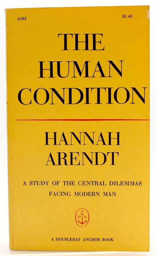 "Hannah Arendt ""The Human Condition"""