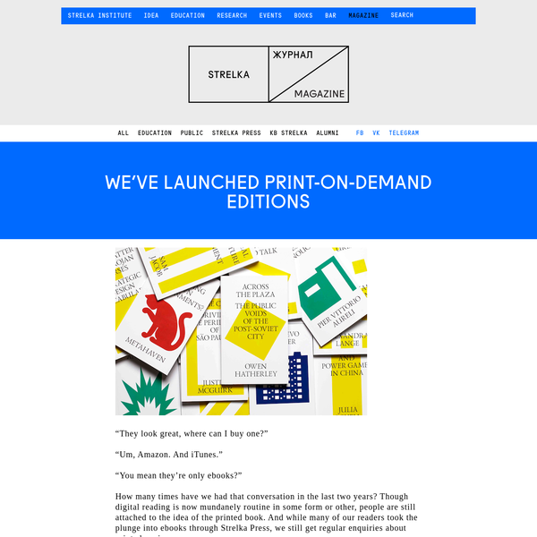We've launched print-on-demand editions