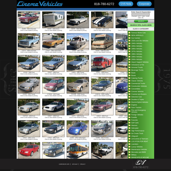 Picture Vehicles, Picture Cars - Rental, Fabrication, Car Prep, Sourcing, Wrecked Vehicles, rent vehicles for film