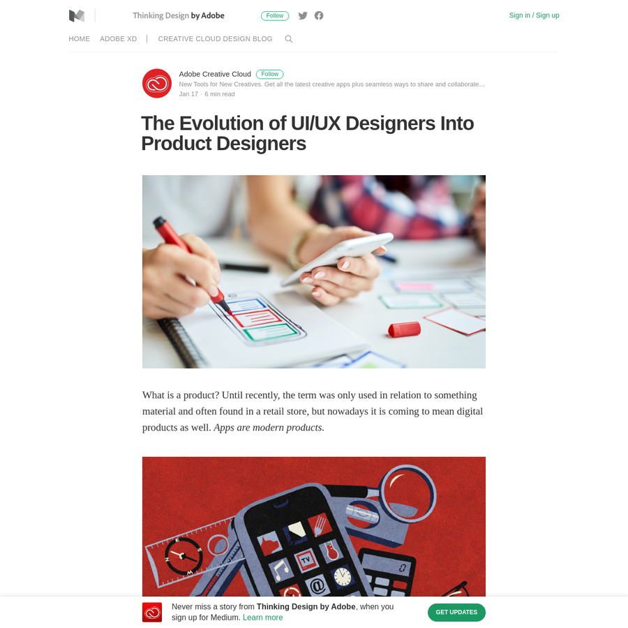 """What is a product? Until recently, the term was only used in relation to something material and often found in a retail store, but nowadays it is coming to mean digital products as well. Apps are modern products. When it comes to building great products, design is the most important """"feature."""""""