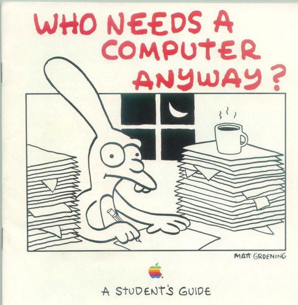 Matt Groening pre-Simpsons Apple artwork
