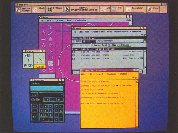 Digital Equipment Corp.'s graphical user interface