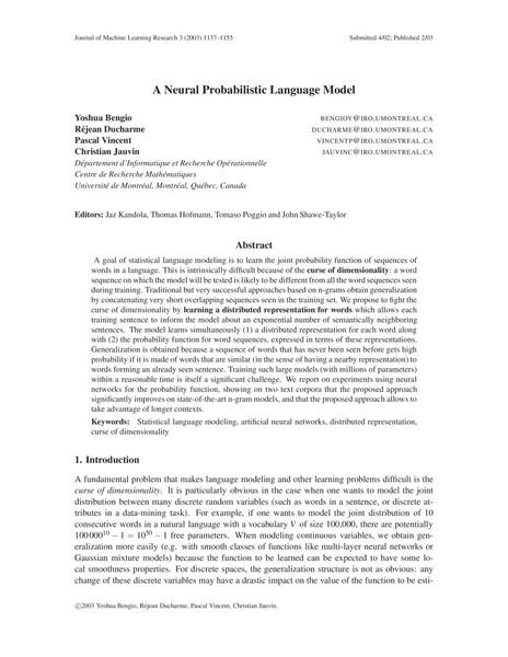 A Neural Probabilistic Language Model