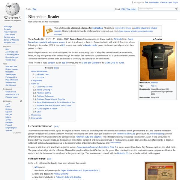 Nintendo e-Reader - Wikipedia