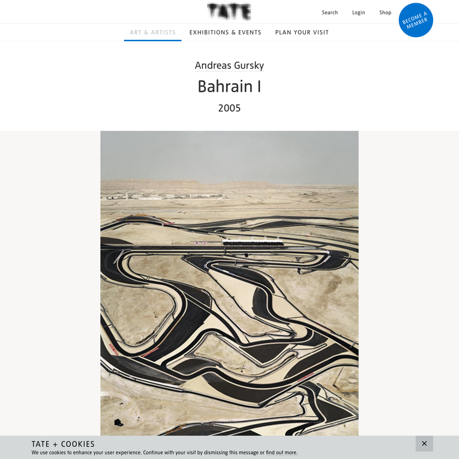 Artwork page for Bahrain I, Andreas Gursky 2005