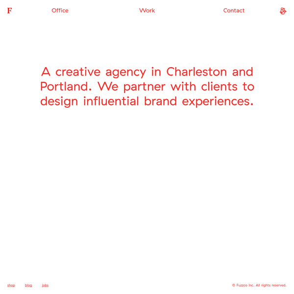 Fuzzco is a creative agency in Charleston and Portland.