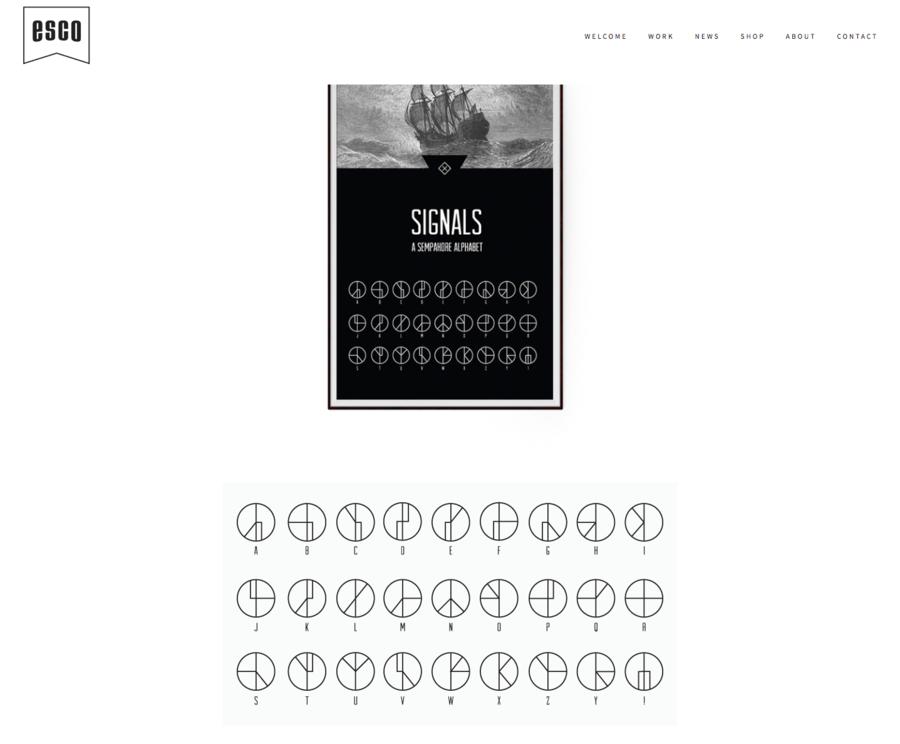 semaphore font