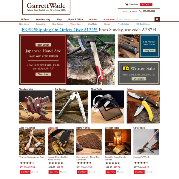 Garrett Wade Woodworking Tools & Supplies, Shop Tools, Hand Tools, Measuring Tools, Knives & Drills - Garrett Wade