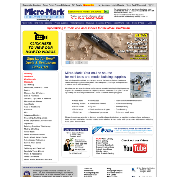 Shop Small Hobby Tools & Miniature Tools from Micro Mark