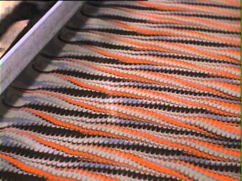 Film made in 1970 by Bedfordshire Record Office of Cockerell marbling.