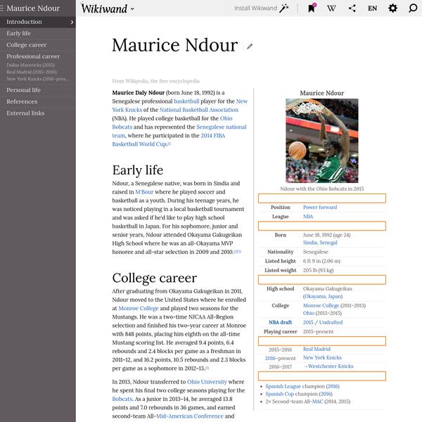 Maurice Ndour | Wikiwand