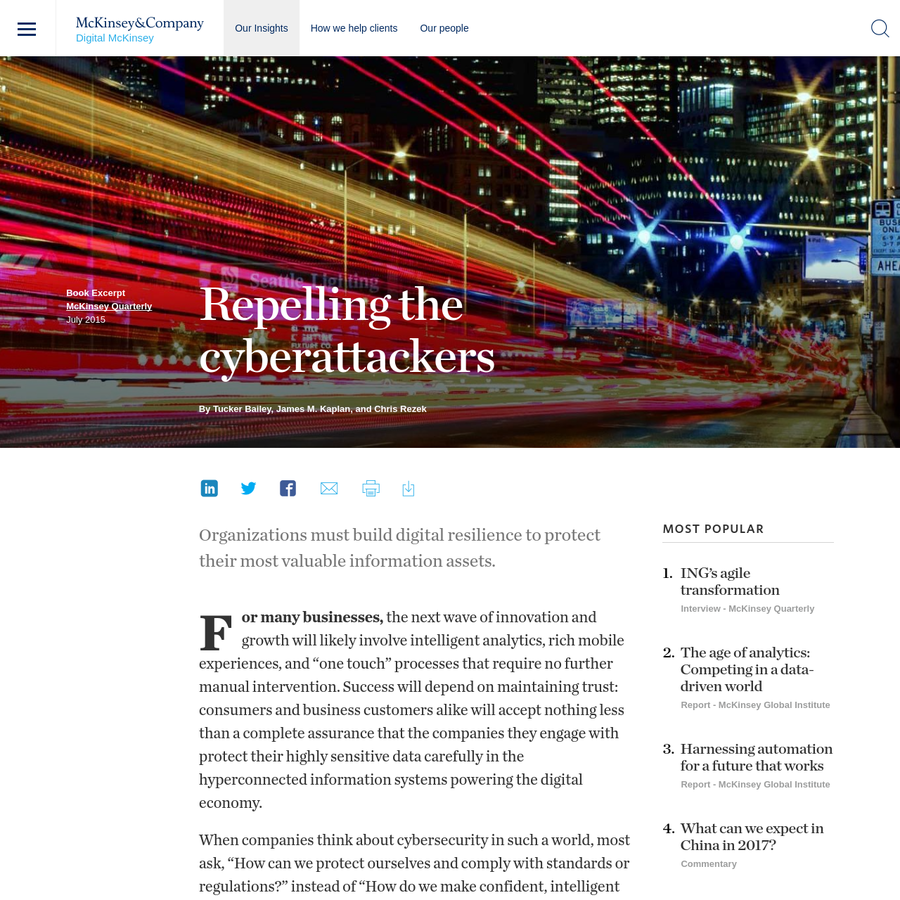 Organizations must build digital resilience to protect their most valuable information assets.