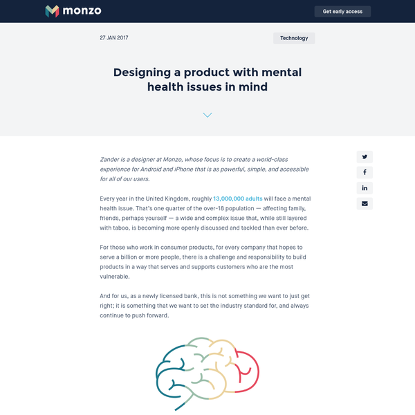 Designing a product with mental health issues in mind
